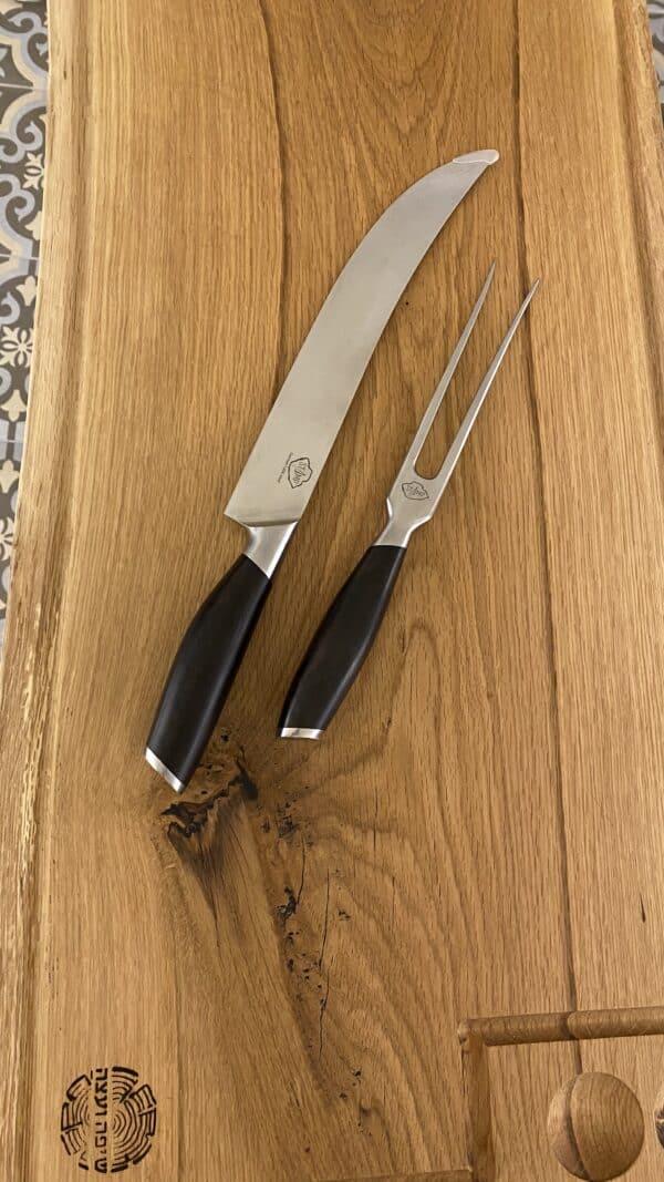 מארז מתנה הכולל בוצ'ר מקצועי סכין שף ומזלג בשר