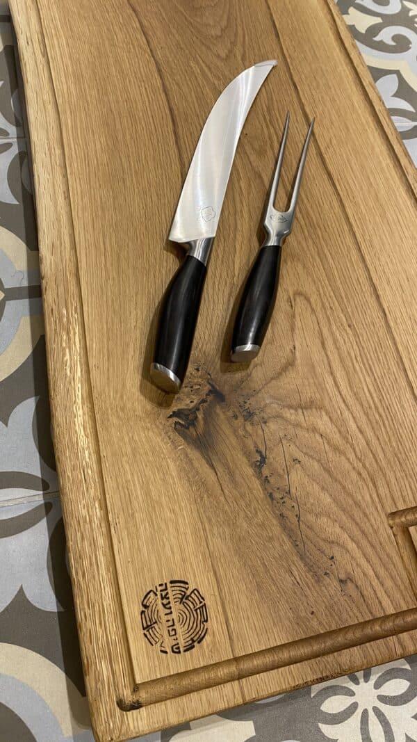 בוצר מקצועי לבשר וסכין כוללים חריטה אישית