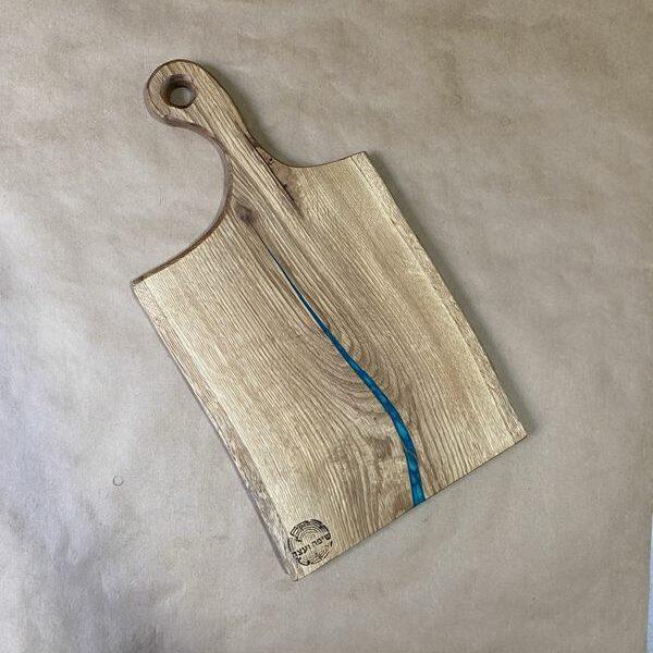 קרש חיתוך מעץ טבעי -אלון מבוקע