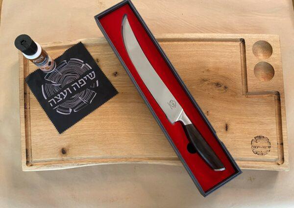 מארז בוצ'ר וסכין עם חריטה