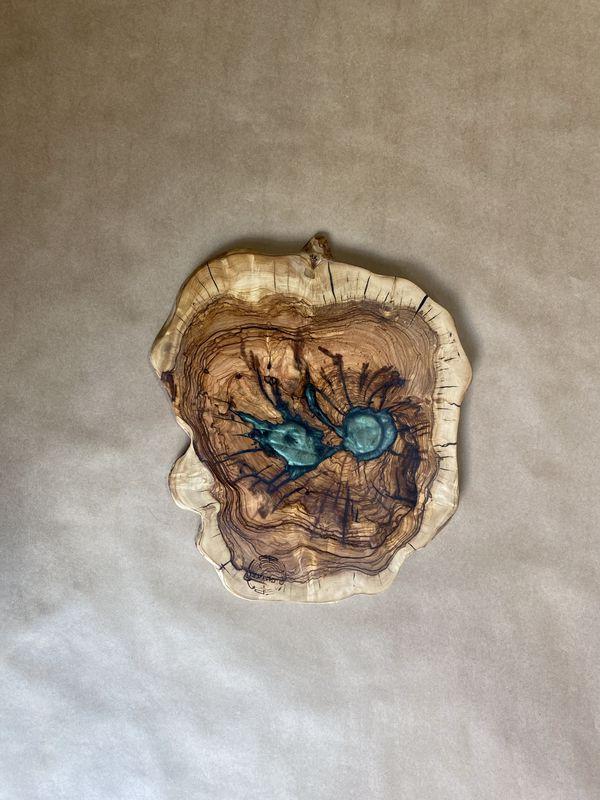 בוצ'ר עגול מעץ זית